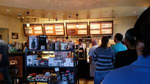 In line at Kean Coffee